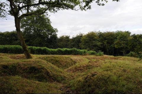Remains of trenches